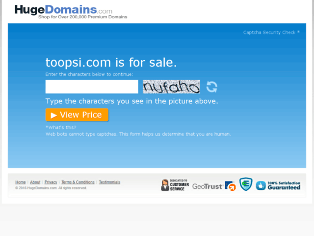 Survey of Hugedomains.com - toopsi.com is for sale (too psi)  - Karaoke-israel.com