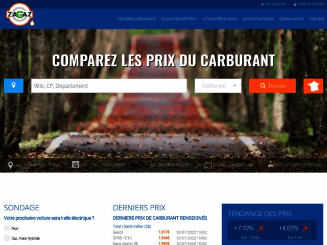 Capture d'écran du site Zagaz