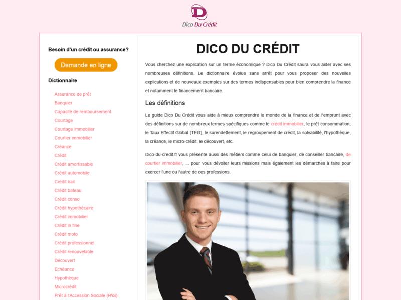Dico Du Crédit : se former en économie