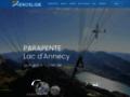 Détails : Aéroslide - Parapente vol biplace, lac d'Annecy