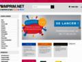 Voir la fiche détaillée : Service d'impression en ligne des supports de communication