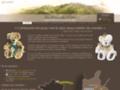 Détails : Les ours des crêtes - ours de collection en peluche - Valérie Gobez