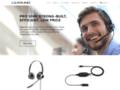 Micro-casques téléphoniques sans fil et filaires pour centres d'appels   LEXOUND