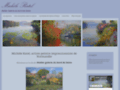 artiste peintre peinture de fleurs, jardin