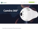 Camera de surveillance sans fil, Caméra ampoule panoramique wifi