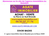 Agence immobiliere - BAZAS - Sud Gironde - achat - vente- maisons a vendre - terrains (33430)