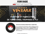 Agence Vintage création et fabrication de TOMBSTONES
