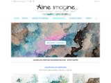 aquarelle, peinture, imagination, semi-abstrait