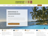 Hôtel 3* à Nosy Be, Anjiamarango Beach Resort, 40 bungalows individuels en bord de mer avec 500m. de plage