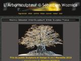 Sébastien Woznica Arborisculpteur Sculptures d' arbres et personnages en fil métallique cuivre argent or acier laiton entièrement fait main pièce uniq