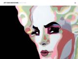 pop art,portrait,acrylique, contemporain, graphique, minimaliste