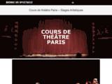Cours de theatre à Paris de l Avenue du spectacle