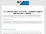 Garde meuble et location de box à Toulouse