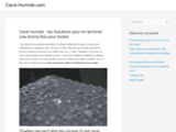 Cave humide : les Solutions pour en terminer une bonne fois pour toutes - Cave-H