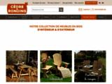 SOLDES mobilier de jardin en bois - Cèdre et Rondins