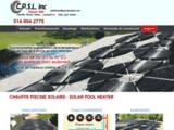 Chauffe piscine solaire Laurendeau - Fabrication vente et installation