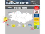 Bateau ecole du CLUB MARIN BRETON, permis bateauMoguériec en Sibiril, finistère