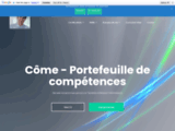 Côme - Portefeuille de compétences | Site web décrivant mon parcours scolaire et professionnels dans les infrastructures, les systèmes et les réseaux