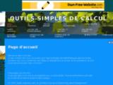 Outils simples de calcul - Page d'accueil