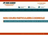 Cours Academy, soutien scolaire et cours à domicile sur Paris et la région Centre.
