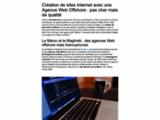 Création site web marrakech maroc, ecommerce, réferencement site internet