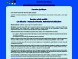 Doctrine juridique : publication d'articles sur le droit et la jurisprudence