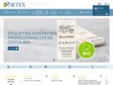 Étiquettes tissées Dortex, Étiquettes textiles, Étiquettes nominatives, rubans pour paquet cadeau