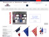 Fabrication et vente de drapeaux, banderolles