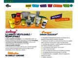 Gobelet personnalisé réutilisable en plastique fabriqué en France
