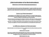 Electrostimulation.CH Spécialiste de l'Electrostimulation en Suisse ! - Electrostimulation.CH