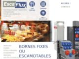 Borne escamotable de distribution d'énergie, alimentation électrique, Escaflux