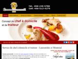 evasion gourmande - Chef à domicile laurentides et Montréal
