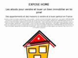 EXPOSEHOME.FR : pour accélérer la vente et la location de ses biens immobiliers
