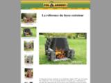 Foyer Extérieur Outdoor fireplace - Les Foyers Feu Ardent Inc. - Manufacturier de foyers extérieurs.
