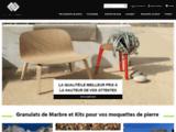 Granulat de Marbre - 3D MATIERES - Vente de Moquette de Pierre