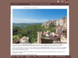 Chambres d'hotes de prestige sur la Côte d'Azur à Tourrettes sur Loup près de Saint Paul de Vence , French Riviera - Midi de la France