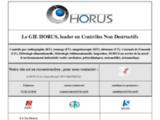 Contrôle non destructif, métrologie dimensionnelle et inspection radiographie - Gie HORUS