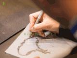 bijoux, haute-qualité, pierres précieuses, artisan, ouvrier