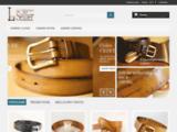 La ceinture sellier :  ceintures et ceinturons en cuir sur mesure faits mains