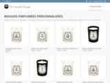 Bougies parfumées personnalisées, fabriquées en France - Ma Chouette Bougie