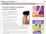 Maigrir du ventre - Guide pour maigrir du ventre rapidement