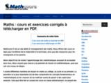 Mathématiques, cours et exercices de maths corrigés