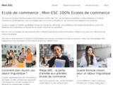 Mon ESC : le site 100% Ecole de Commerce et de Management