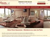 Orion Hotel : Appart hotel  et residences hotelieres  à Paris, Prague et Chengdu