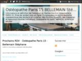 Ostéopathe Paris 15 BELLEMAIN Stéphane