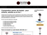 Comparateur de panier de basket pour enfants, adultes ou le fun