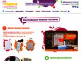 Pegasus - Projets de dessins d'enfants imprimés sur torchons, sets-de-table, sacs, pour écoles, associations