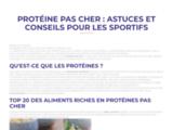 ProteinePasCher - Boutique de créatine et de protéine pour musculation