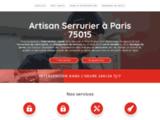 Serrurier à Paris 15 en urgence - Dépannage serrure ou blindage de porte