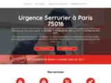 Urgence Serrurier à Paris 75016 - Intervention d'urgence à prix fixes